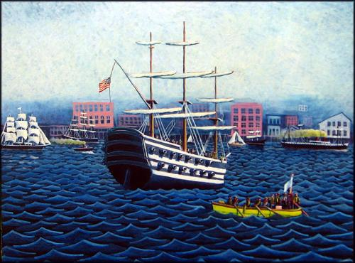 Port Angeles Attacks Port Townsend, 1866 by Jack Gunter