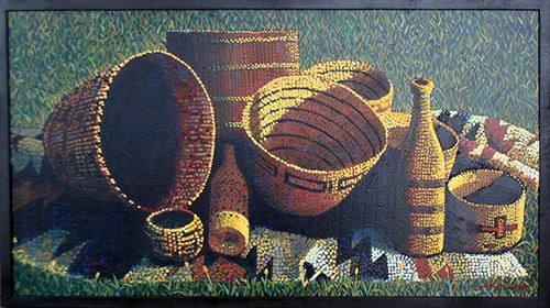 Last Basket Painting by Jack Gunter