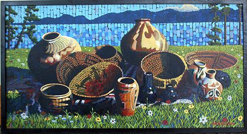 Basket Painting #1 by Jack Gunter