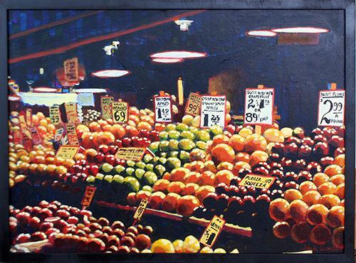 Market Scene (Horizontal) by Jack Gunter