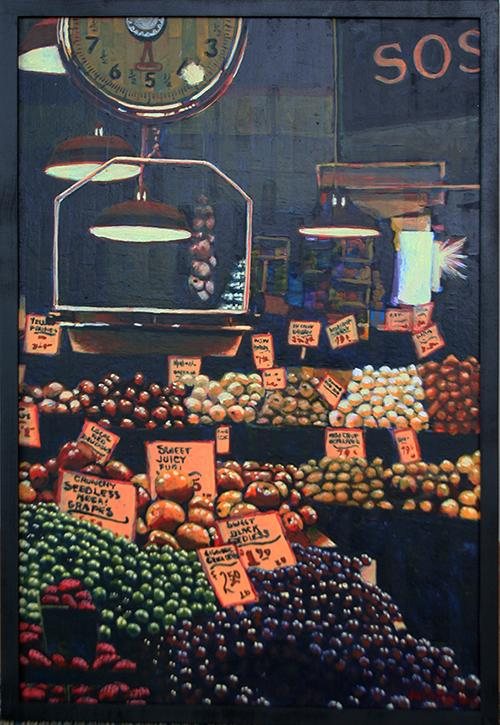 Market Scene (Vertical) by Jack Gunter
