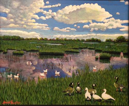 Marsh Clouds by Jack Gunter
