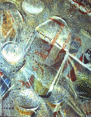 Aluminum Cans in a Plastic Bag by Jack Gunter