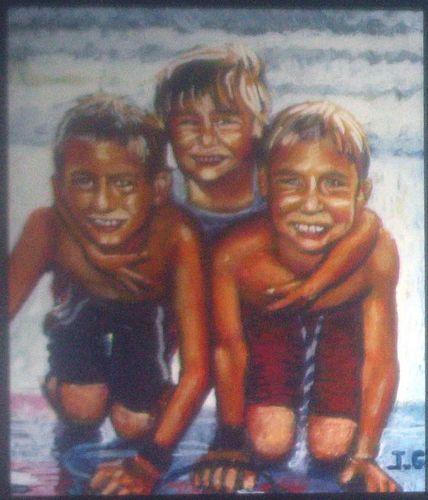 X-mas Family Beach by Jack Gunter